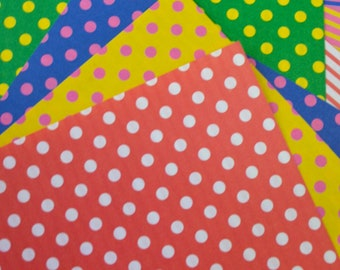 A Set of 80 Sheets Double-Sided Chiyogami Origami Papers- Polka Dots & Stripes