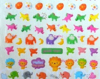 Japanese / Korean Puffy Sticker- Animals