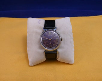 """USSR  """"POBEDA""""  (Victory)  wrist watch 1960 - 70 violet dial  Very Rare Very, Very good condition"""