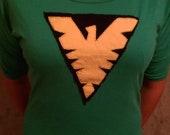 Jean Grey Green Phoenix Costume Shirt