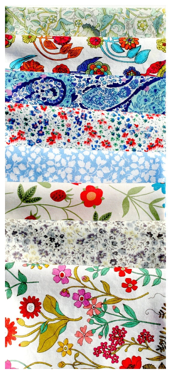 Liberty Fabric Quilting Patchwork Applique 8 nr Tana Lawn Pieces