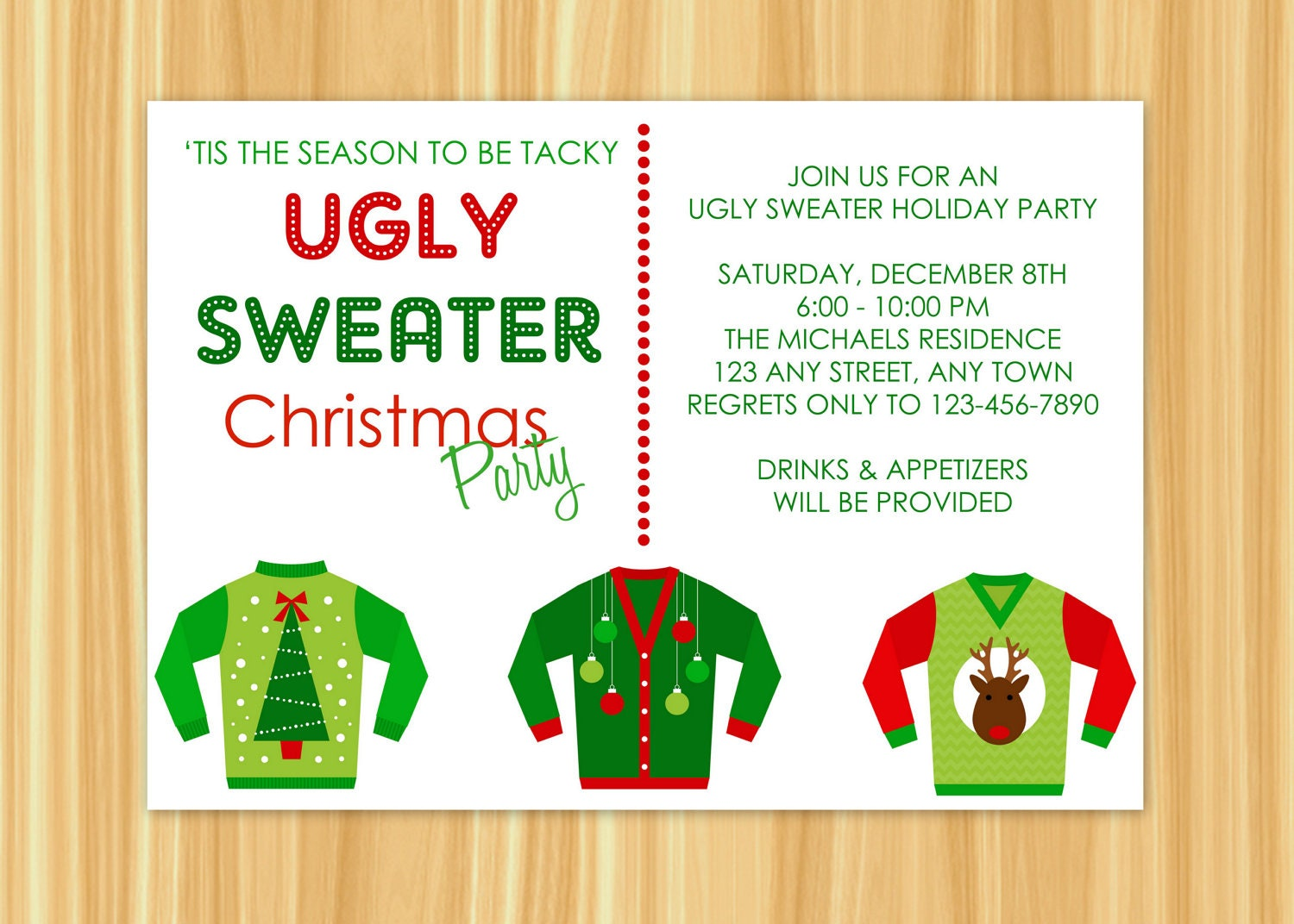 Ugly Sweater Party Invitation Wording gangcraftnet