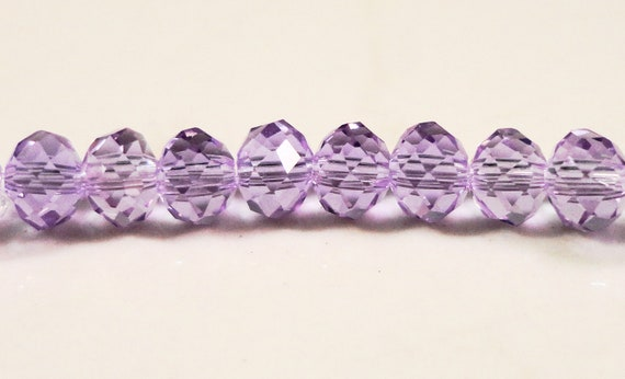 Crystal Rondelle Beads 4x3mm (3x4mm) Alexandrite Light Purple Crystal Beads, Tiny Chinese Crystal Glass Beads 99 Loose Beads per Pack