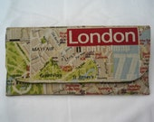 Clutch bag London. London street map clutch bag. Clutch purse, evening bag