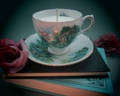 Royal Vale Thatched Cottage Teacup Candle with Soy Wax