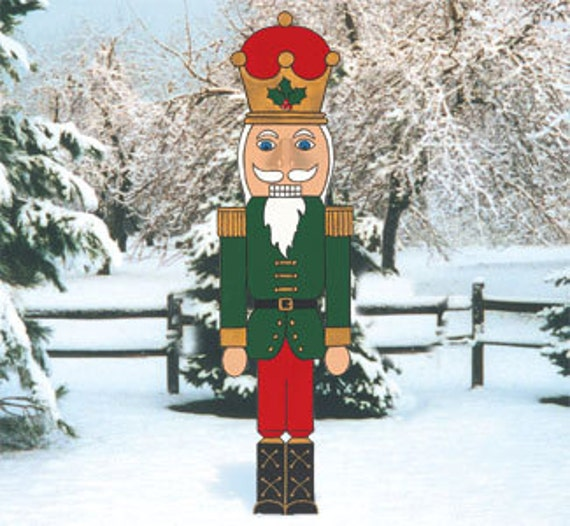 Christmas Outdoor Nutcracker Wood Outdoor Yard Art By