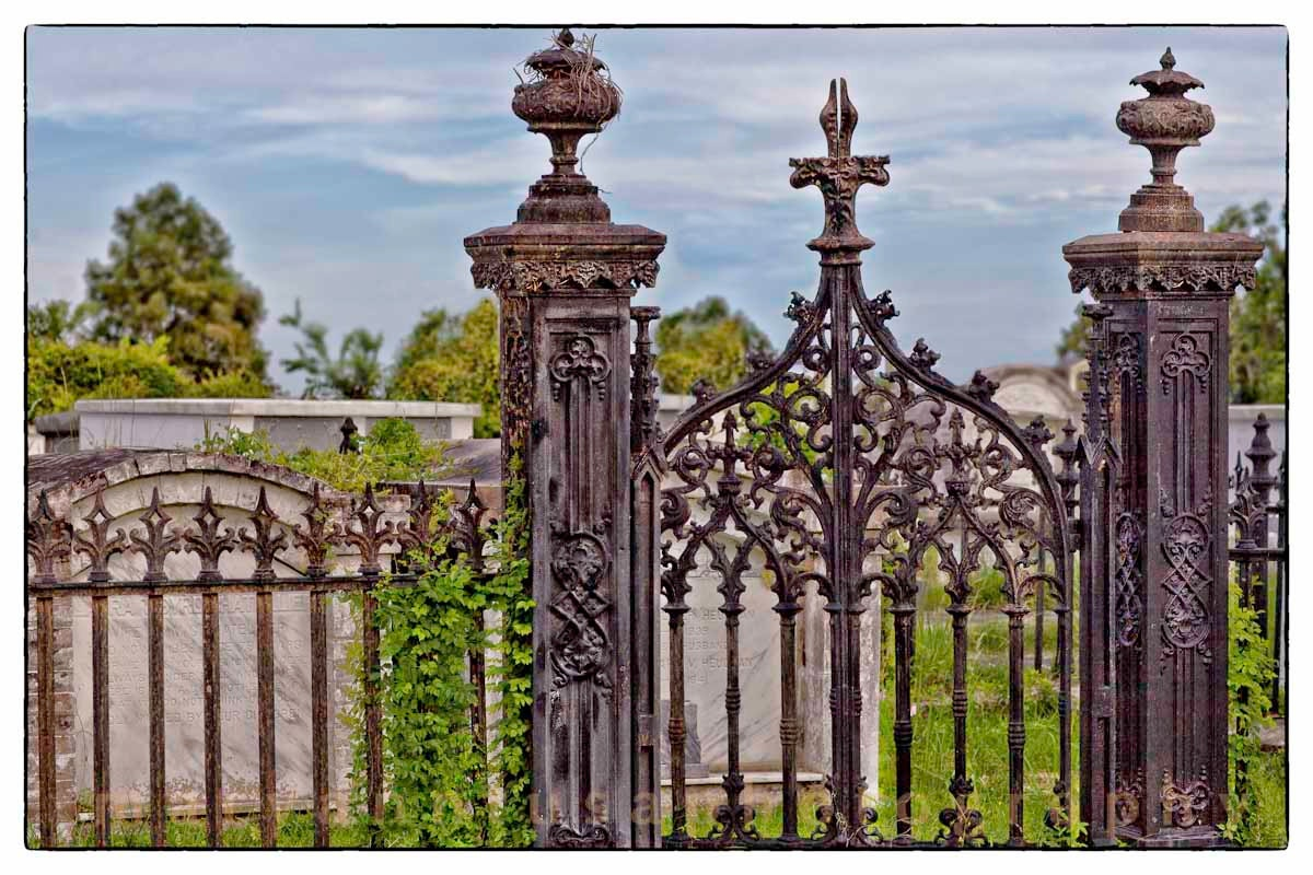 Fine art photo old wrought iron fence by matphotography on