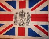 Vintage Tea towel - Collectable 1970s Linen - Vintage 1977 Royal Silver Jubilee  Teatowel - Union Jack