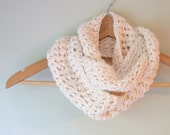 White Infinity Scarf .. Eternity Scarf .. Eco Clothing .. Organic Cotton  .. Cotton Infinity Scarf .. Crochet Scarf .. Infinity Loop Scarf