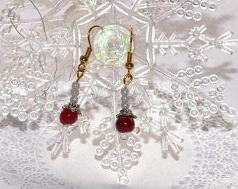 Crimson Winter Earrings