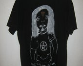 Black metal head tee shirt