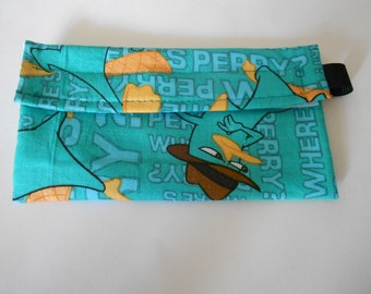 Agent Perry/ Perry the Platypus from Phineas and Ferb Reusable Snack bag