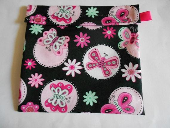 Butterfly print Reusable Sandwich bag