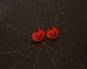 Smiling Pumpkin Earrings