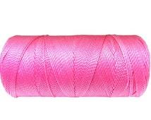 Macrame Jewelry Cord, Knotting String, Braided Bead Bracelet - Candy Pink