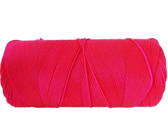 Macrame Cord 1 spool - Waxed Polyester Cord - Bracelet Cord - Neon Pink