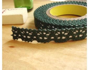 J&Bobbin Deco fabric lace rolltape - khaki (lace fabric tape)