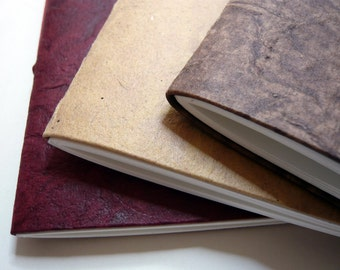 Leather-look A5 notebook/journal/cuttings book