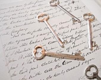 Bulk Skeleton Keys-Antiqued Silver-Wholesale Keys-Skeleton Key Pendants-53mm-50 pieces