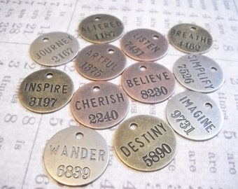 Word Charms Pendants-Quote Pendants Charms-Miners Tags-Philosophy Tags-Wholesale-360pcs-Assorted-Copper,Silver,Bronze