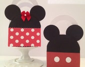 Mickey and Minnie Mouse Inspired Favor Boxes/Treat Bags