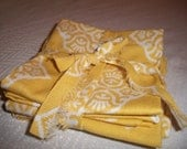 "Golden yellow 9"" coctail napkins"