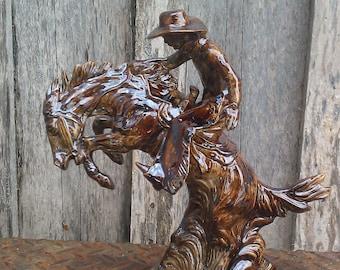 Golden Bronze Saddle Bronc Rider