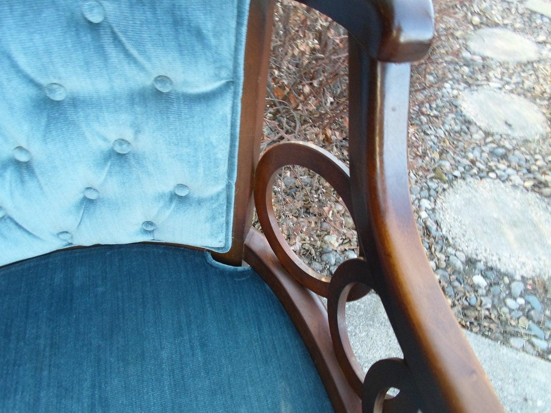 Vintage LEWITTES Hollywood Regency Club Chair Upholstered
