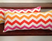 set of 2 rectangular chevron throw pillows