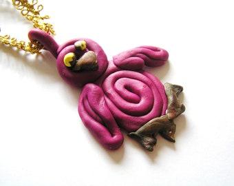 Funky Purple Penguin Handmade Ornament