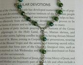 Glass St Dymphna Chaplet, Handmade
