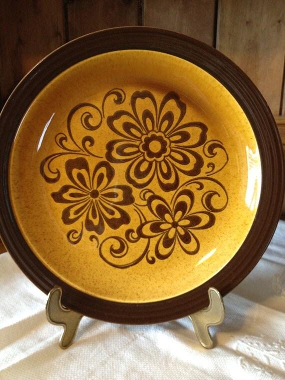 Vintage 70's Decostone Designer Collection Dinner Plates...