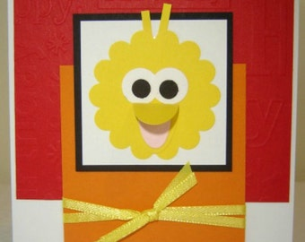 Big Bird Sesame Street Birthday Card or Party Invitation