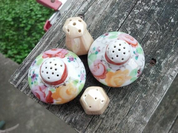 Ceramic Salt and Pepper Shakers Nippon Morimura