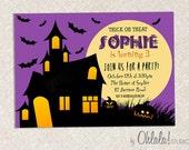 DIY Custom Printable Halloween Birthday Invitation Card