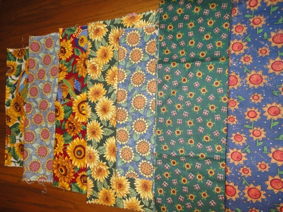 Coming up sunflowers fabric assortment