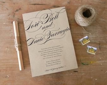 "DIY Printable Wedding Invitation ""Calligraphy"""