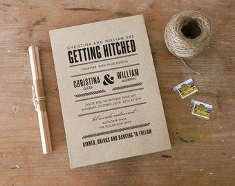 "DIY Printable Wedding Invitation ""Sterling"""