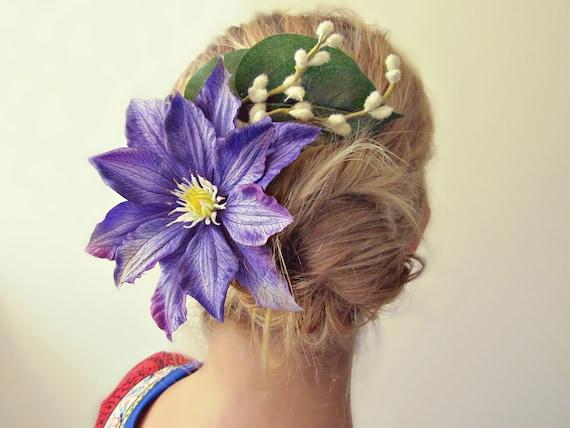 Starburst - Bun Belt, vibrant violet flower crown for your hair bun