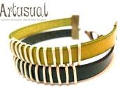Leather Bracelet (green)