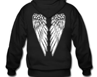 Adult Hoodie / Angel wings on back