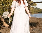 RESERVED for SANDY Vintage Wedding Dress - SKY 1960s