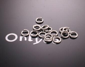 50 grams- 4mm Rhodium plated brass jump rings(0.8mm)(K281S)
