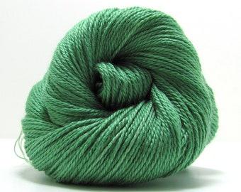 Silk and Ivory Yarn in Kiwi by Scarlet Fleece