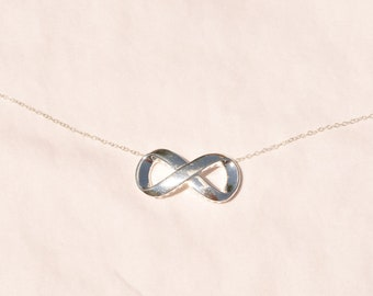 Infinity/Eternity Necklace on Sterling Silver Chain