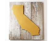 California Dreamin' on Reclaimed Wood - Dimensional Art - FleaMarketSunday