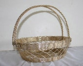 Vintage wire fruit basket