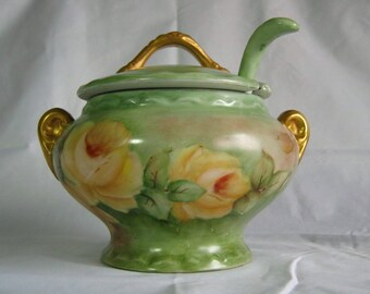 Vintage Hand Painted China Bowl Tureen Gravy Soup Sauce