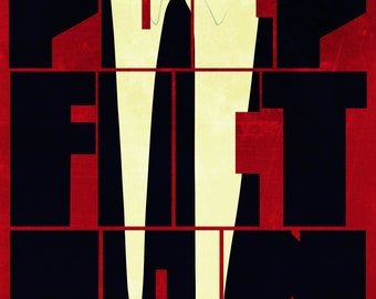 "Pulp Fiction Suit and Tie 11"" x 14"" Print"