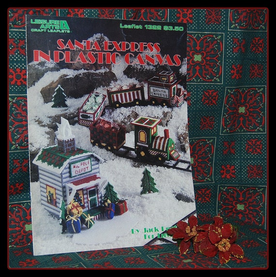 Santa Express in Plastic Canvas - by Jack Peatman for LuvLee - Leaflet 1322 - Leisure Arts